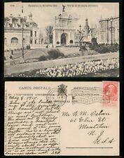 Mayfairstamps Belgium 1910 Brussels Expo Cancel Entrance Kermesse to Us Postcard