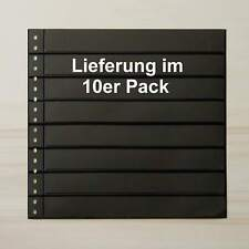 LINDNER Omnia Einsteckblatt 08 schwarz 8 Streifen - 10er-Packung