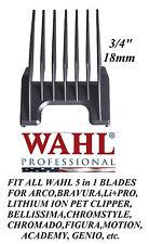 """Wahl 3/4""""(18mm) Attachment GUIDE 5 in 1 Blade COMB-Arco,Chromado,Bravura Clipper"""