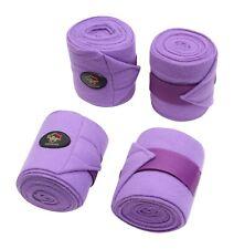 Crystal Ace Equestrian Horse Fleece Bandages Leg Wraps Purple