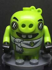 LEGO ANGRY BIRDS The Movie MINIFIGURE PILOT PIGGY Pig Lime Green  NEW 75822