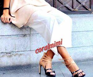 Zara Black Straps High Heel Sandals UK 5 EURO 38