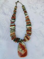 Silpada California Red Abalone Shell Necklace Reversible Pendant Retired N1046