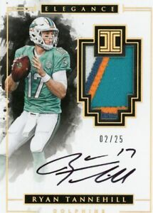 2016 Panini Impeccable Elegance GAME WORN Patch Auto Ryan Tannehill #02/25