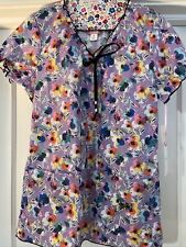 Koi Limited Addition Women's Scrub Top Pattern:Covered In Flowers Embroidered