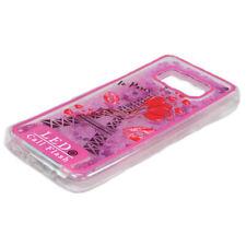 Samsung Galaxy S8 LED Flash Design Liquid Star Dust Case (Eiffel Tower Hot Pink)