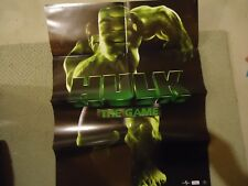 Incredible Hulk The Game PS2 Gamecube Xbox Foldable Promo Poster Insert ONLY