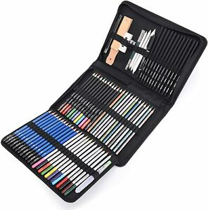71 Piece Art Supplies Sketch Set Painting Coloring and Drawing Pencils Set