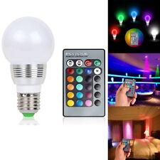E27 3W 16 Color LED RGB Magic Spot Light Bulb Lamp Wireless IR Remote Control