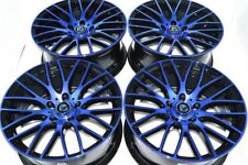 17 blue Wheels Rims Azera Tiburon Talon Mazda 3 5 6 RDX Prelude CL Civic 5x114.3