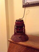 Antique Dietz No 40 Traffic Gard lantern Syracuse NY with Dietz globe