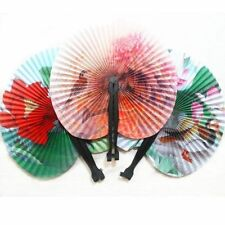 3pcs Folding Paper Chinese Oriental Floral Hand Fans Wedding Favours Table Gifts