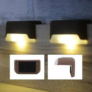 12PCS Solar Powered Fence Deck Lights Wall Step Stairs LED Outdoor Garden Lamp