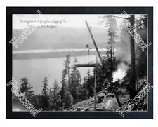 Historic Baumgartner & Jaspers Logging Co. - Cathlamet, Washington Log Postcard