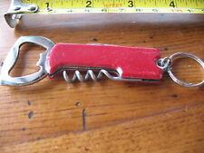 Key Chain Church Key & Corkscrew Mod 70's Style Groovy