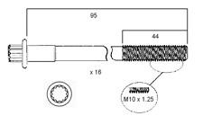CYLINDER HEAD BOLTS FOR MITSUBISHI FTO GALANT HG 6A12 V6 DOHC 2.0L MIVEC