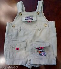 BOYS  TAN  OVERALLS -   SIZE  3-6 MONTHS