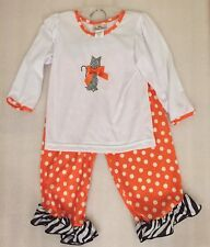 NEW Laura Dare Toddler Girl Halloween Cat Long Sleeve 2pc PJ Set Size 3T NWT