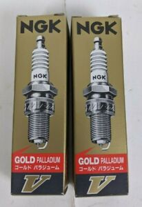 LOT OF 2 NGK GOLD PALLADIUM SPARK PLUG B8EV