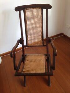 Deckchair, Gartenstuhl, klappbar um 1900