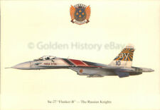 SU27 FLANKER B RUSSIAN KNIGHT SQUADRON PRINTS POSTCARD MILITARY AIRCRAFT PICTURE