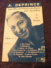 Partition Sélection de Danses pour accordéon par V Marceau N°1