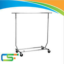 NEW COLLAPSIBLE SALESMAN GARMENT CLOTHES DISPLAY RAIL