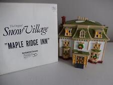 Department 56 Snow Village MAPLE RIDGE INN #5121-7