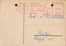 LEIPZIG, Postkarte 1962, DHfK Leipzig