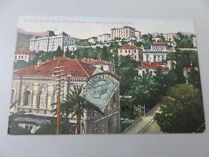 CP Cartolina Epoca Un Saluto da SAN REMO  Viaggiata 1911 da Italia a Francia