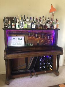 Piano Bar, Gin Bar, Wine Bar, Drinks Cabinet, Cocktail Cabinet With LED Lights