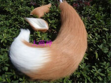 Costume Props Fox Cat Dog Animal Plush Tail Clip Ears Halloween Cosplay Props Anime Spice And Wolf Kamisama Kiss Plushie Tails Soft Fuzzy Toy
