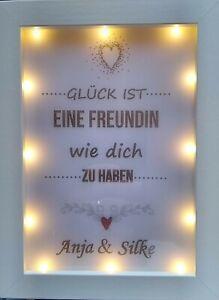 """Geschenk """"GLÜCK IST""""  Leuchtrahmen LED Bilderrahmen viele Varianten"""
