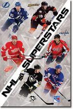 POSTER NHL Superstars 2011 Stamkos Perry Zetterberg Ovechkin Crosby Richards