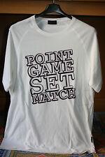 T-shirt maglietta bianca mezza manica corta Sergio Tacchini taglia XL scritta