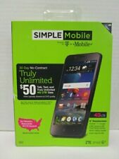 """SIMPLE MOBILE 4G LTE ZTE ZFIVE G - 5"""" TOUCHSCREEN 16 GB - SEALED - NT 8164"""
