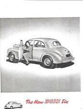 NUFFIELD MORRIS MOTORS MORRIS SIX SALES BROCHURE OCTOBER 1949 FOR 1950