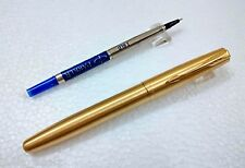 Parker Frontier Gold Roller BallPen Ball Point Pen - blue ink - Free shipping