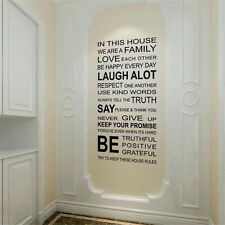 Family Rules Quote Wall Sticker Words Removable Art Mural Home Decor Vinyl Decal