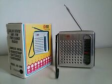 Radiolina Transistor RATE AM-FM Vintage d'epoca POCKET RADIO with BOX - WORKING