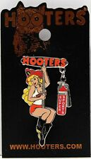 HOOTERS HOT FIREFIGHTER GIRL SLIDING ON POLE FIRE FIGHTER LAPEL PIN SUPER SPORTS