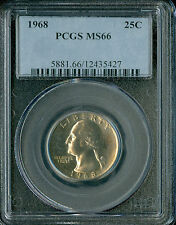 1968 WASHINGTON QUARTER PCGS MS66 SPOTLESS .