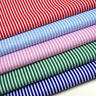 Polycotton Fabric Material Candy Stripes 3mm Half Metre Striped Blue White