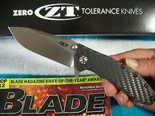 ZERO TOLERANCE usa SLICER 0562CF Carbon Fiber KVT Ball Bearing Opening ZT Knife