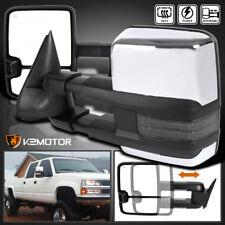 2007-2013 Silverado Sierra Facelift Smoke LED Signal POWER+HEATED Towing Mirrors