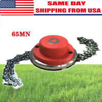 Replace For Lawn Mower 65Mn Trimmer Head Coil Chain Brush Garden Grass Trimmer