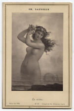 CABINET CARD OF PAINTING LA SIRENE BY CH. LANDELLE.