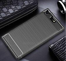 Para Sony Xperia XZ1 Compacto De Fibra De Carbono Gel Funda cepillado a prueba de choques