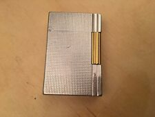 Very Rare Vintage ST Dupont Lighter Gatsby Silver & Gold Plated Made in France