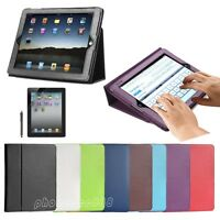 Magnetic Folio PU Leather Smart Stand Cover Case For Apple iPad 3 & 2 & iPad 4